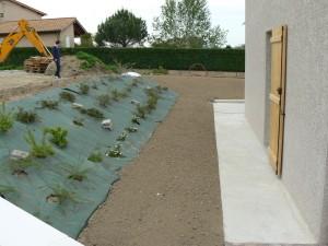 cr ation du jardin d une villa neuve jardins et bassins. Black Bedroom Furniture Sets. Home Design Ideas